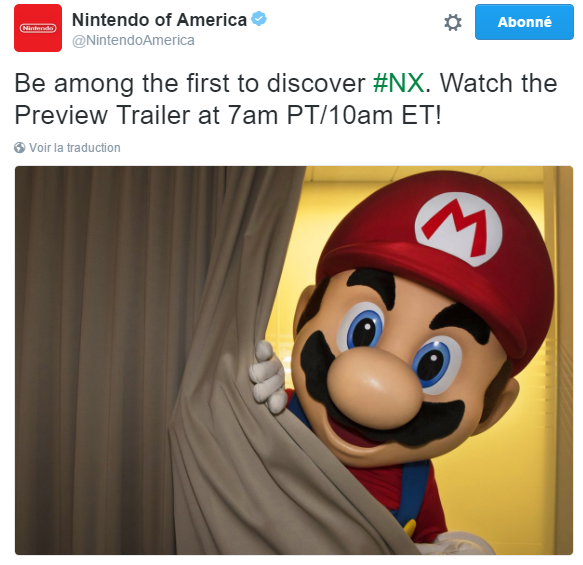 Officiel : la Nintendo NX sera dévoilée aujourd'hui !